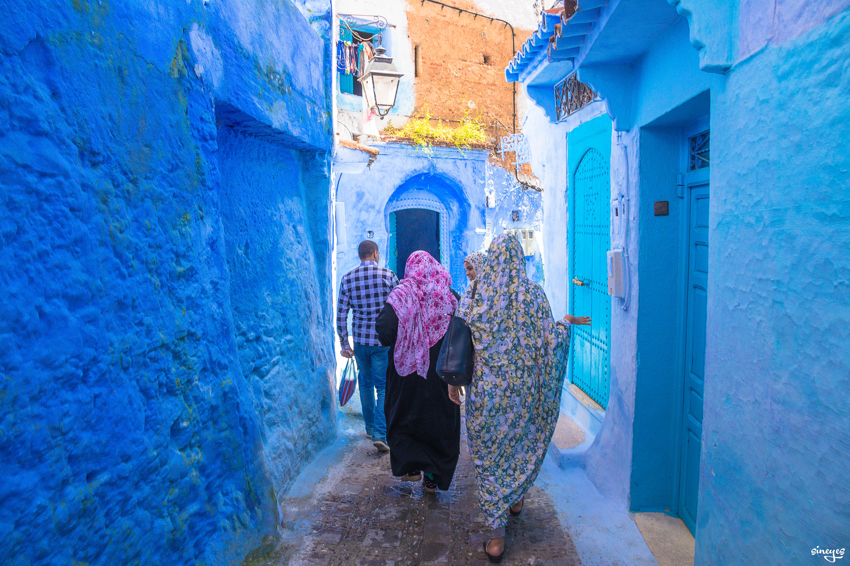 3 voiles - Chefchaouen, Maroc by sineyes