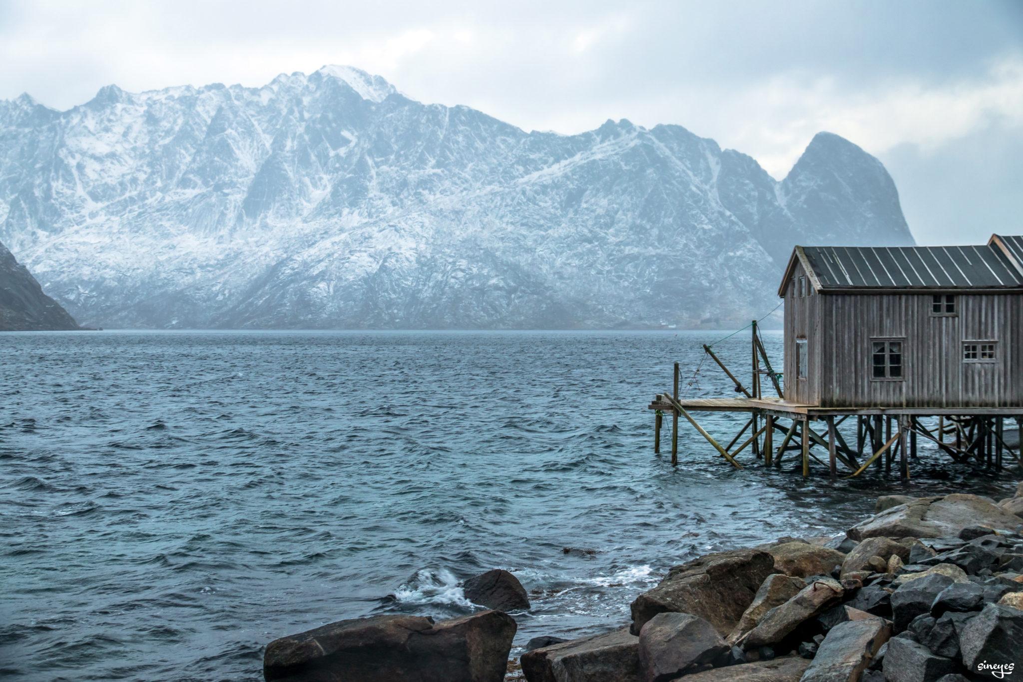 Cabane - iles Lofoten, Norvège